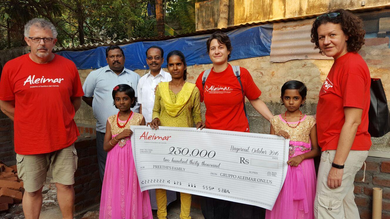 INDIA: Grazie anche al vosto contributo abbiamo potuto raccogliere complessivamente ben 4.000€ per la casa di Preethi!